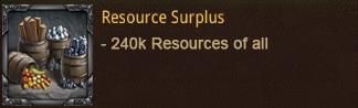 chest resource surplus