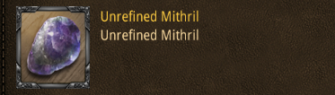 tour unrefinde mithril