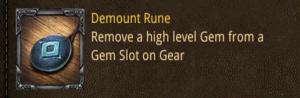 demount rune