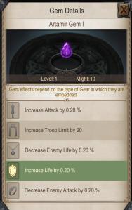 gem gear attributes