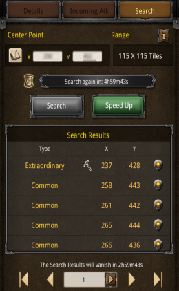 tower search results